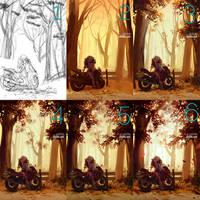 Autumn process by shilin