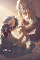 Flower crown - sketch for patreon by shilin