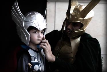 Thor + Loki by BOiKEM