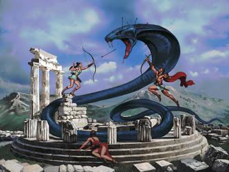 Artemis and Apollo by setvasai
