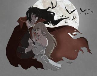Alucard: Blood of my Blood (revamped) by littleFernanda