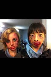 Zombie Makeup HvZ 2014 by XxMidyBluexX