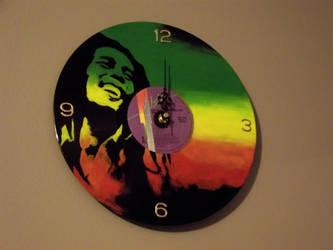 COM: Bob Marley Vinyl Record Clock by XxMidyBluexX