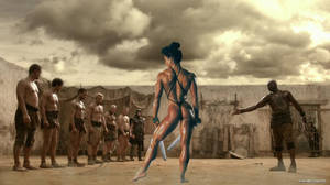 Spartacus: Amazon Fight by plinius