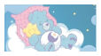 pastel care bear stamp // bedtime bear by Iint