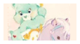pastel care bear stamp // wish bear by Iint