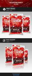 Valentine Party Flyer by juandiazpro