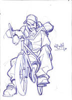 biker sketch by CarlosGomezArtist