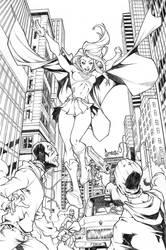 Supergirl commish by CarlosGomezArtist