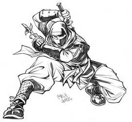 Ninja sketch commission by CarlosGomezArtist