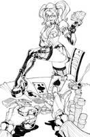 Harley Quinn strip commission by CarlosGomezArtist