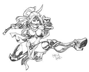 Drowess sketch commission by CarlosGomezArtist
