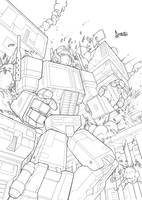 Optimus prime by CarlosGomezArtist