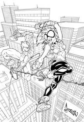 Arana and Spiderman by CarlosGomezArtist