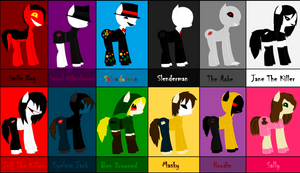 Creepypasta as ponies 1 by Howlinghill