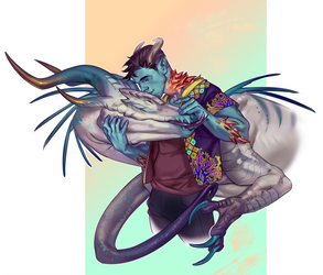 Another dragon kiss by Orsob