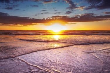 Ruapuke Beach Sunset by KiwiTakeFlight