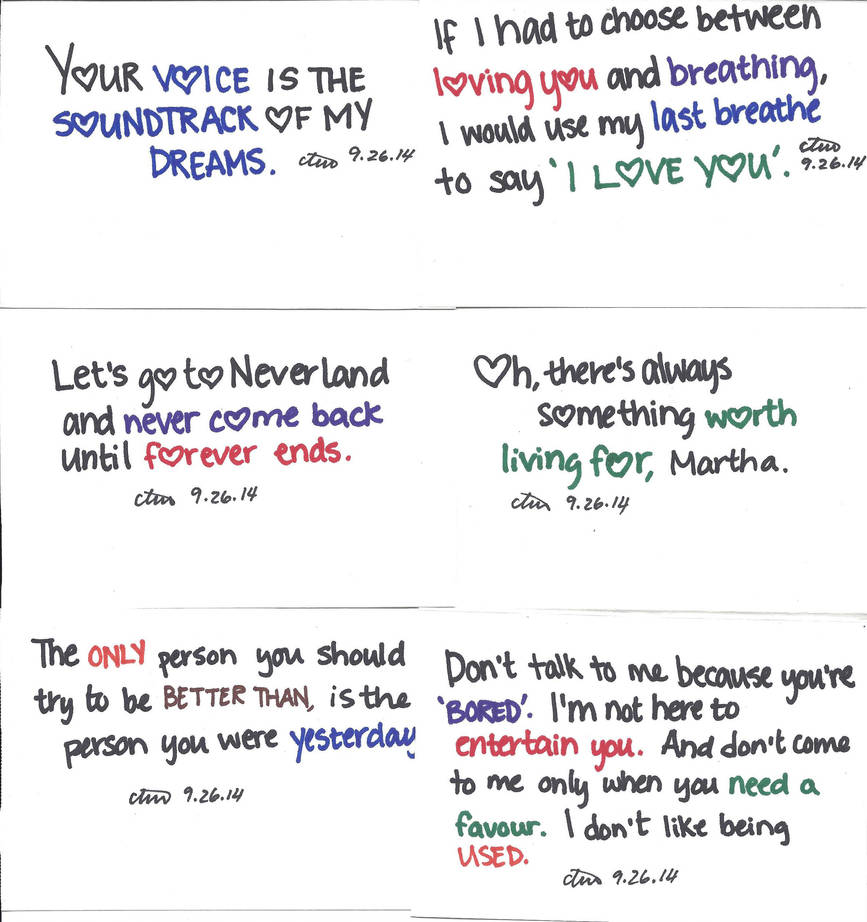 Cute Quotes Set 2 By Heaven Is Lonely On Deviantart