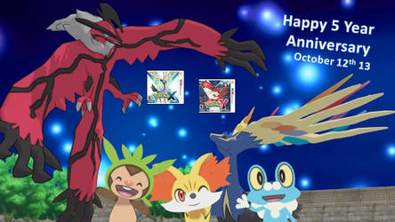 Pokemon XY 5 Year Anniversary by ChrisM199