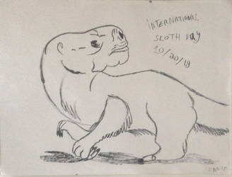 Giant Ground Sloth for International Sloth Day by ChrisM199