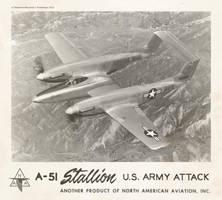 North American A-51 ''Stallion'' by Bispro