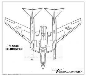 Vought V-5000 ''Filibuster'' by Bispro