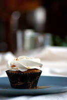 Black Tea Cupcake by Cailleanne