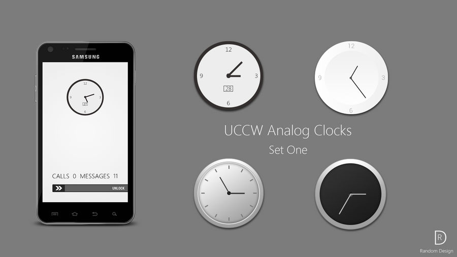 UCCW Analog Clock Set One by AlexJMiller