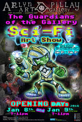 The-guardians-of-the-gallery-sci-fi-art-show-flyer by ArlynPillay