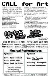 Artcade Art Show flyer back by ArlynPillay