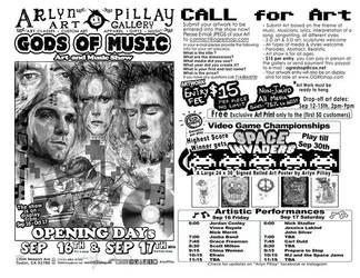 Gods of Music Art Show Flyer by ArlynPillay