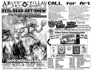 Evil Dead Art Show by ArlynPillay