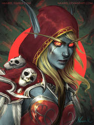Warchief Sylvanas Windrunner World of Warcraft by Naariel