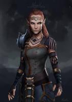 Elder Scrolls Online Commission: Elf by Naariel