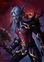 World of Warcraft Death Knight Blood Elf [C] by Naariel