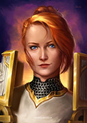 Female Human Paladin / World of Warcraft [C] by Naariel