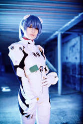Rei Ayanami - Plugsuit II by JuriaScarlet