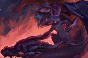 Take a ride on the black dragon by Jekutoda