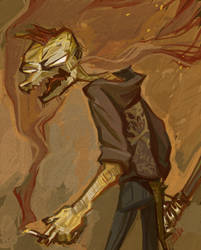 A Reptilian by Jekutoda