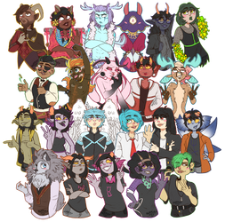 Chibi Commission Dump by AlleycatIrony