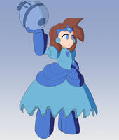 Princess Mega Man (Coloring) by Zizum
