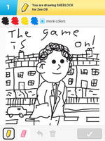 Draw Something - Sherlock by Kirby-Force