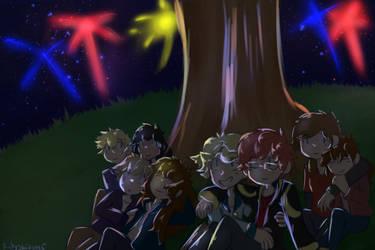Fireworks- Blue by TheMidnightstars45