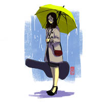 Yellow Umbrella by Archiri