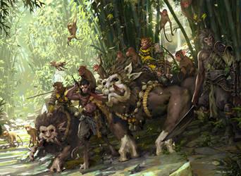 Monkey Hunt by KaelNgu