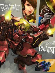 Overwatch D.va by KaelNgu