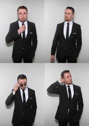 Black suit and tie by wyverex