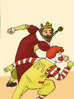Ronald vs King by Blanco55
