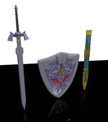 Zelda Weapons by cdrek1