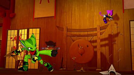 Ninja Battle by MikeDarklighter